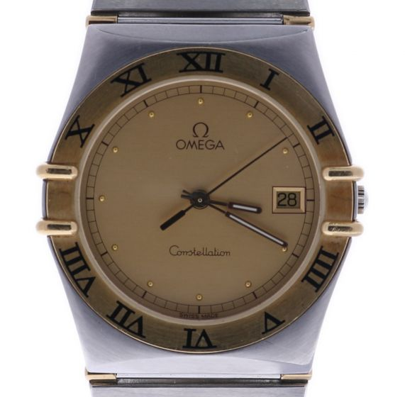Omega Constellation Stainless-steel 1448-5/431 Champagne Dial Mens 36-mm Quar