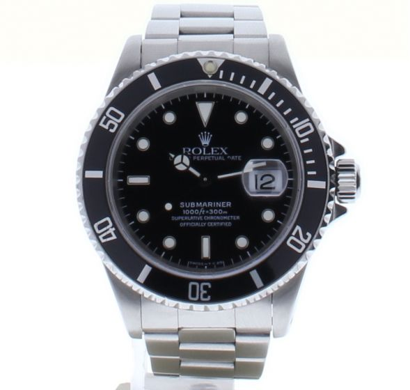 Rolex Submariner Stainless-steel 16610 Black Dial Mens 40-mm Automatic self-wind