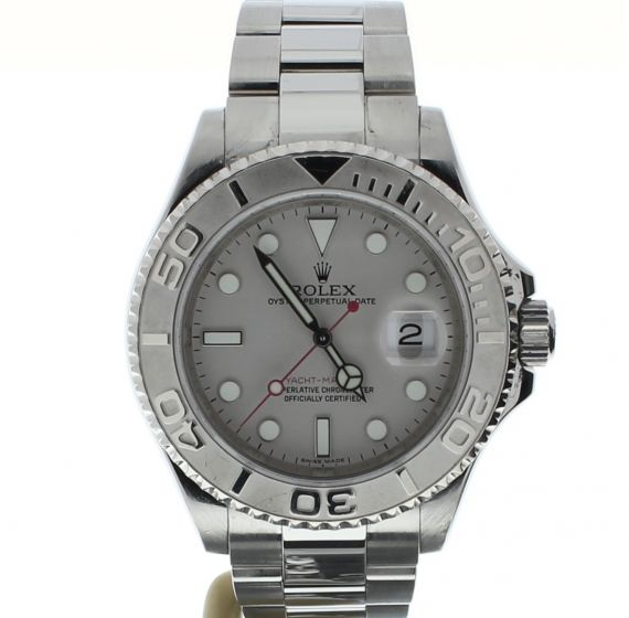 Rolex Yacht-Master Stainless-steel 16622 Grey Dial Mens 40-mm Automatic Watch