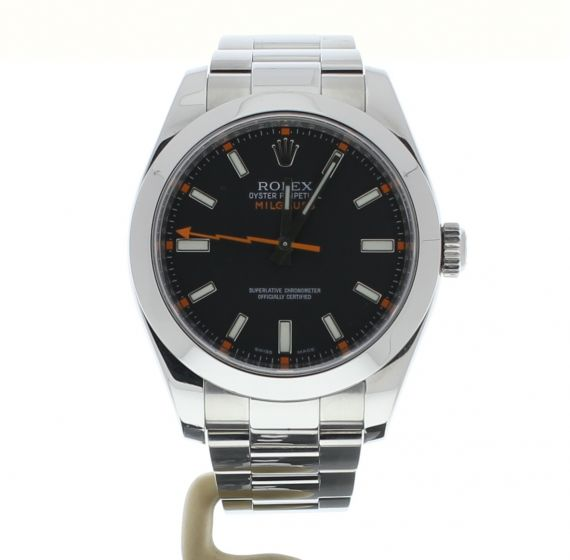 Rolex Milgauss Stainless-steel 116400 Black Dial Mens 40-mm Automatic Watch