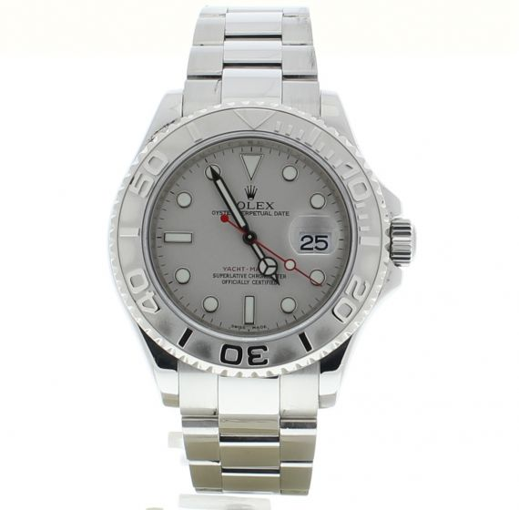 Rolex Yacht-MasterPlatinum-Steel 16622 Grey Dial Mens 40-mm Automatic Watch