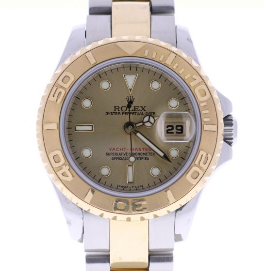 Rolex Lady Yacht-Master 18k-gold-steel 69623 Champagne Dial 29mm Automatic Watch