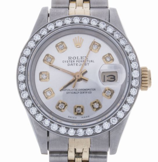 Rolex Lady Date 26 Two-Tone 6917 Silver Dial 26-mm Automatic self-wind Watch