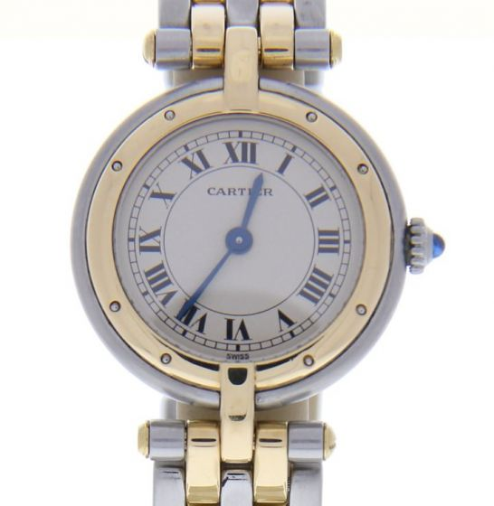 Cartier Cougar Panthere 19145  Two tone White Dial Womens 24-mm Quartz Watch