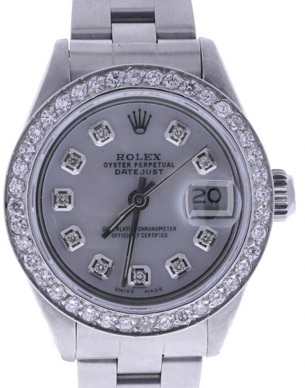 Rolex DateJust 26 Stainless-steel 6916 Mother-of-Pearl Dial Womens 26-mm Automatic self-wind Sapphire crystal. Swiss Made Wrist Watch