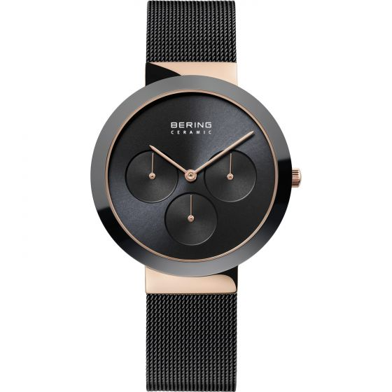 BERING Time High-Tech Ceramic Collection Stainless-steel 35036-166-US Black Dial