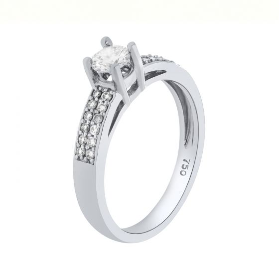 0.41 Ct. T.W. Diamond Ring in 18 Karat White Gold