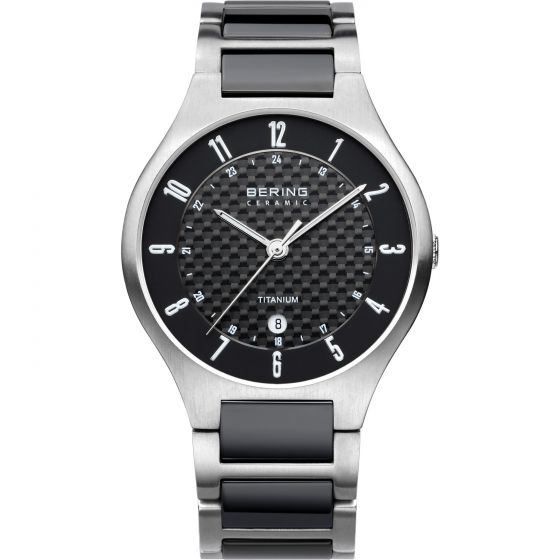 BERING Time 11739-702 Mens Titanium Collection Watch with Titanium Band.
