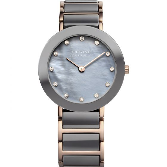 BERING Time 11429-769 Womens Ceramic Collection Watch with Stainless steel Band.