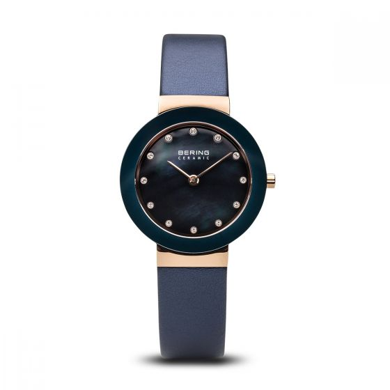 BERING Time 11429-667 Women Ceramic Collection Watch With Satin Strap