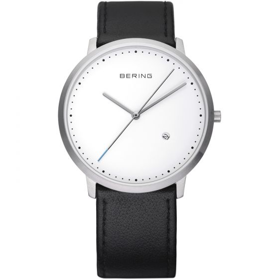 BERING Time 11139-404 Unisex Classic Collection Watch with Calfskin Band.