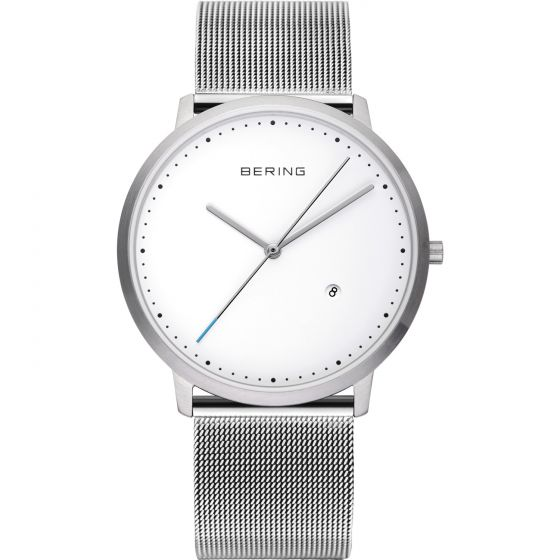 BERING Time Classic Collection Stainless-Steel 11139-004 White Dial Unisex-adult
