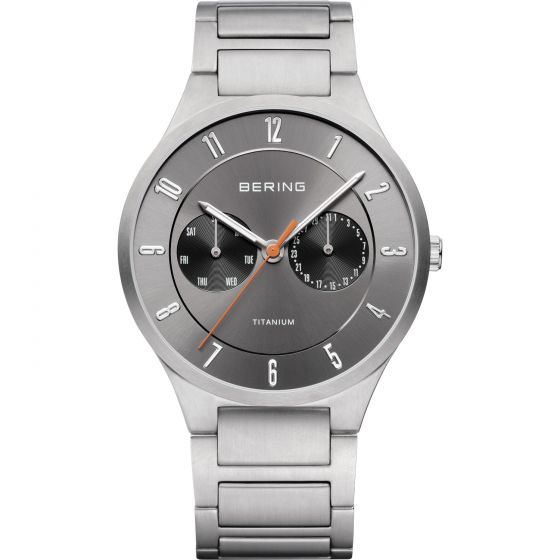 BERING Time 11539-779 Mens Titanium Collection Watch with Titanium Band.