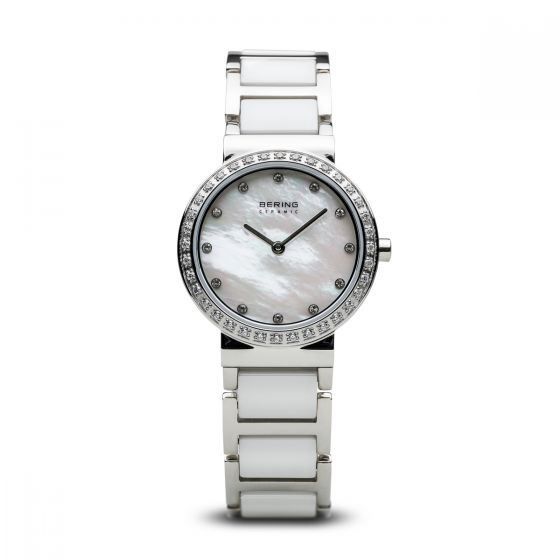 BERING Time 10729-704 Womens Ceramic Collection Watch with Stainless steel Band.
