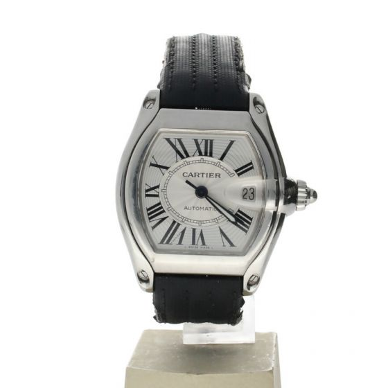 Cartier Roadster Stainless-steel 2510 Silver Dial Men's 36-mm Automatic-self-wind Sapphire crystal. Swiss Made Wrist Watch