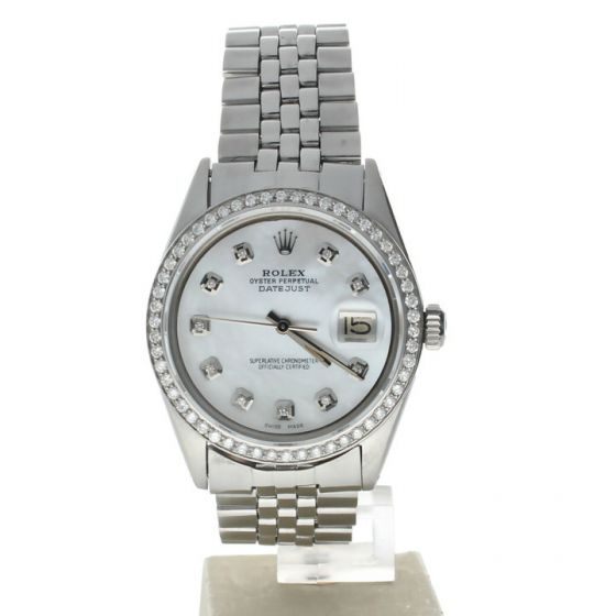 Rolex Datejust 36 steel 1601 Mother-of-Pearl Dial Men's 36-mm Automatic Watch