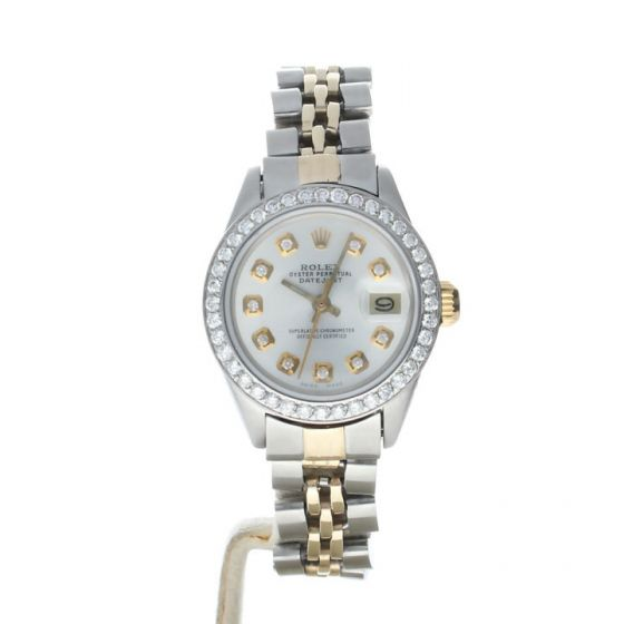 Rolex DateJust 26 Stainless-steel 6917 Mother-of-Pearl Dial Women's 26-mm Automatic-self-wind Sapphire crystal. Swiss Made Wrist Watch