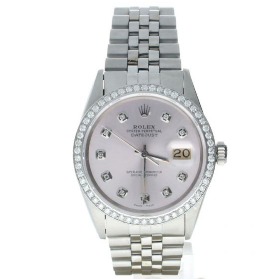 Rolex Datejust 36 Stainless-steel 16014 Grey Dial Men's 36-mm Automatic-self-wind Sapphire crystal. Swiss Made Wrist Watch