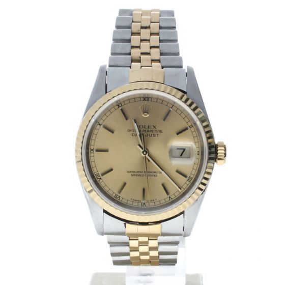 Rolex Datejust 36 Stainless-steel 16233 Champagne Dial Men's 36-mm Automatic-self-wind Sapphire crystal Watch
