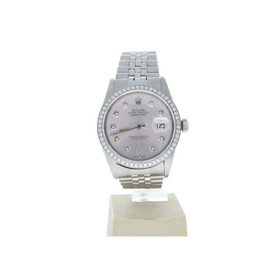 Rolex Datejust 36 Stainless-steel 16014 Pink Dial Men's 36-mm Automatic-self-wind  Wrist Watch
