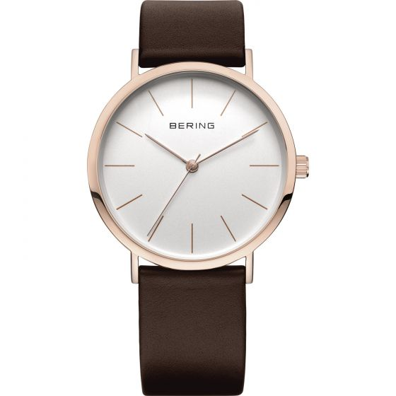 BERING Time Classic Collection Stainless-Steel 13436-564 White Dial Unisex-adult