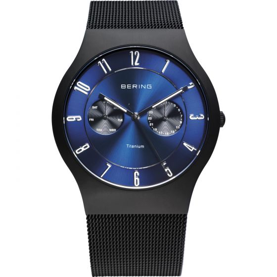 BERING Time 11939-078 Mens Classic Collection Watch with Mesh Band.