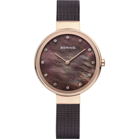 BERING Time 12034-265 Womens Classic Collection Watch with Mesh Band.