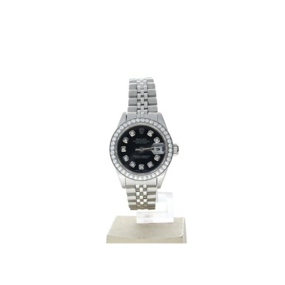 Rolex Ladies DateJust 26 Stainless 69180 Mother-of-Pearl Dial Automatic Watch