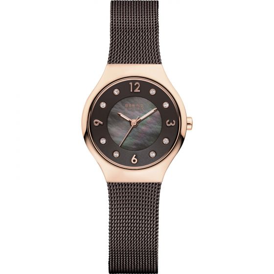 BERING Time 14427-265 Womens Solar Collection Watch with Mesh Band.