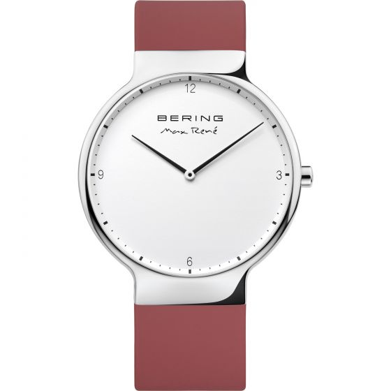 BERING Time 15540-500 Mens Max Rene Collection Watch with Silicone Band.