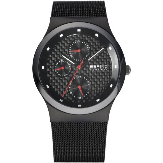 BERING Time 32139-309 Mens Ceramic Collection Watch with Mesh Band.