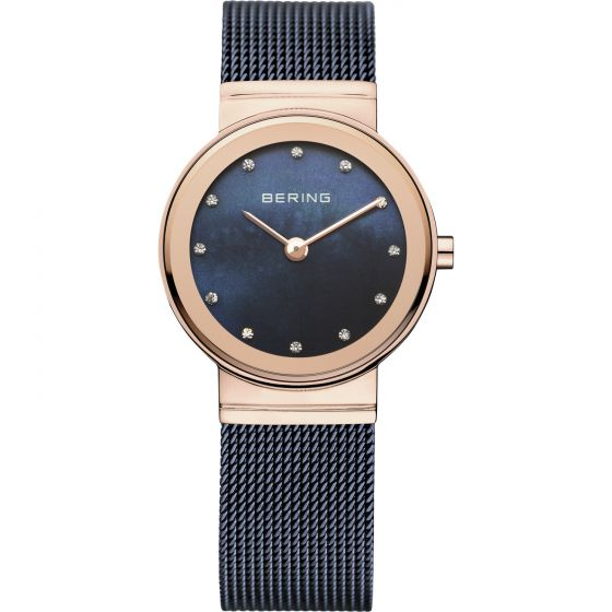 BERING Time Classic Collection Stainless-Steel 10126-367 Mother-of-Pearl Dial Wo
