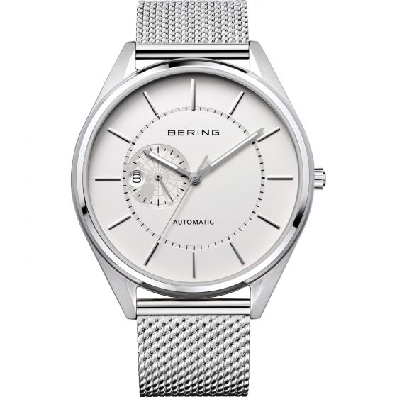 BERING Time Automatic Collection Stainless-Steel 16243-000 White Dial Mens 43-mm