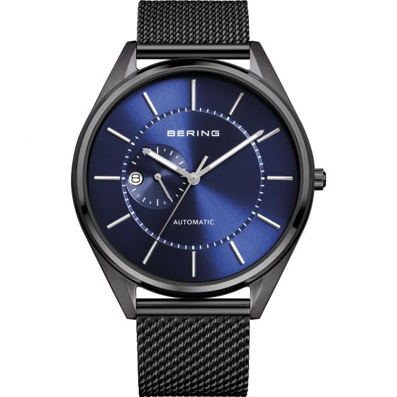 BERING Time Automatic Collection Stainless-Steel 16243-227 Blue Dial Mens 43-mm