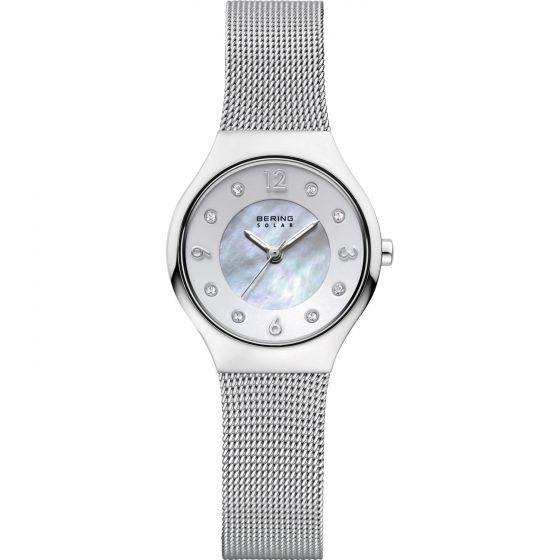 BERING Time 14427-004 Womens Solar Collection Watch with Mesh Band.