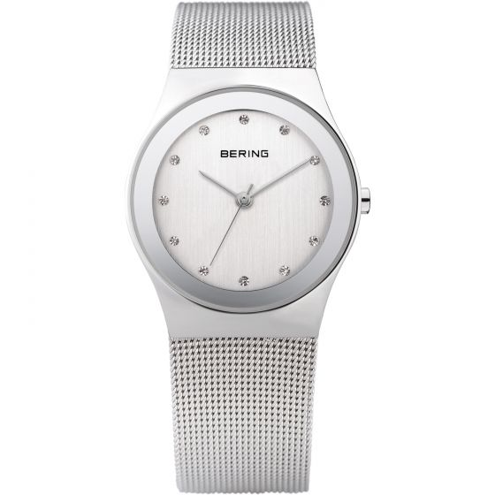 BERING Time 12927-000 Womens Classic Collection Watch with Mesh Band.
