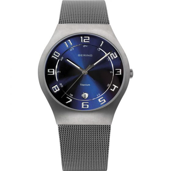 BERING Time 11937-078 Mens Classic Collection Watch with Mesh Band.