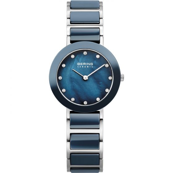 BERING Time 11429-787 Womens Ceramic Collection Watch with Stainless steel Band.
