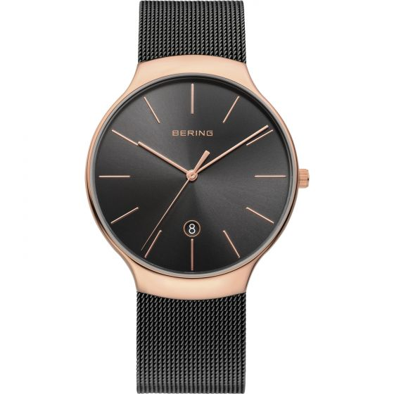 BERING Time 13338-262 Unisex Classic Collection Watch with Mesh Band.