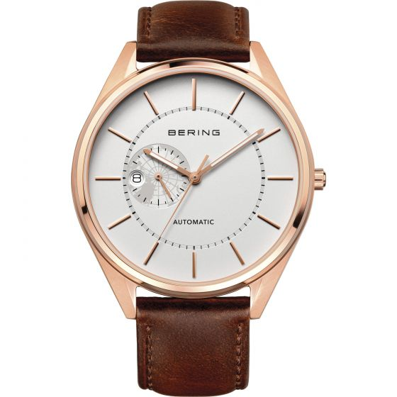 BERING Time Automatic Collection Stainless-Steel 16243-564 White Dial Mens 43-mm