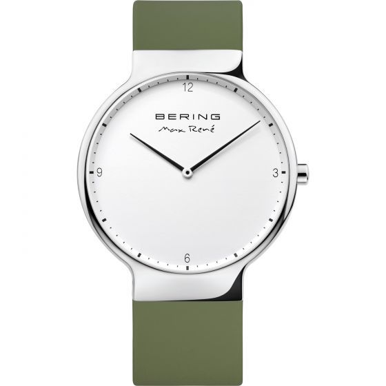 BERING Time 15540-800 Mens Max Rene Collection Watch with Silicone Band.