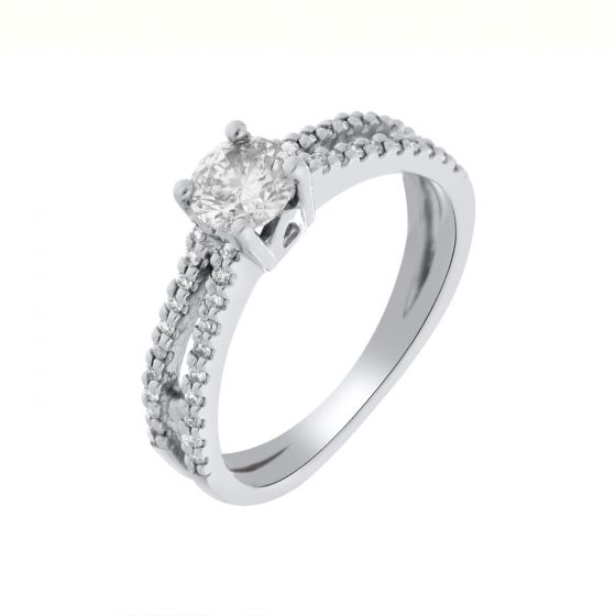 0.75 Ct. T.W. Diamond Ring in 14 Karat White Gold