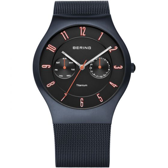 BERING Time 11939-393 Mens Titanium Collection Watch with Mesh Band.
