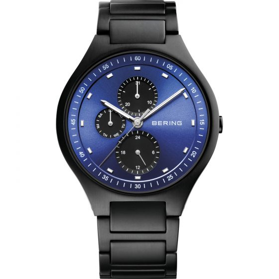 BERING Time 11741-727 Mens Titanium Collection Watch with Titanium Band.