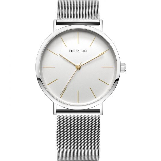 BERING Time 13436-001 Unisex Classic Collection Watch with Mesh Band..