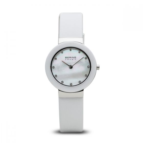 BERING Time 11429-604 Women Ceramic Collection Watch with Satin Strap..