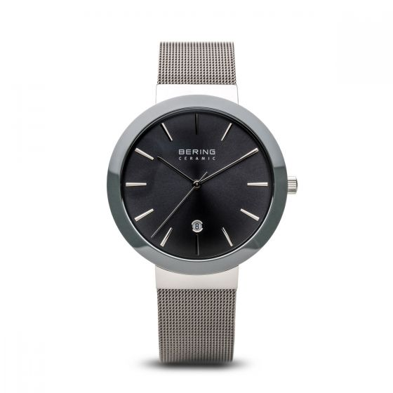 BERING Time High-Tech Ceramic Collection Stainless-Steel 11440-389 Grey Dial