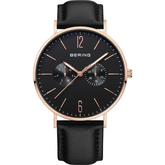 BERING Time Classic Collection Stainless-Steel 14240-166 Black Dial Mens 40-mm Q