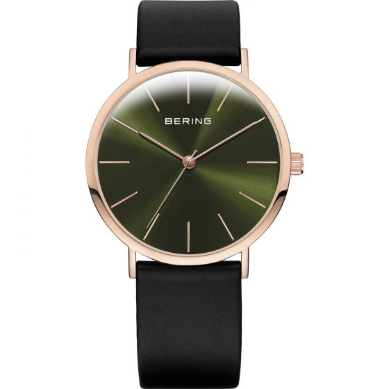 BERING Time Classic Collection Stainless-steel 13436-469 Green Dial Mens 36-mm Q