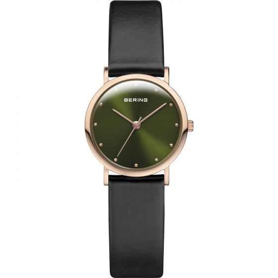 BERING Time Classic Collection Stainless-steel 13426-469-US Green Dial Mens 26-m
